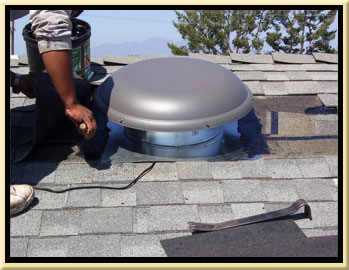 Orange County Solar Fan Roof Ventilation Installation