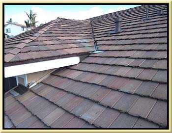 photo of a tile roof leak repair done in laguna niguel, ca 92677