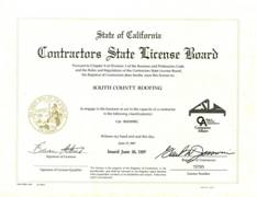Dana Point State Contractors License