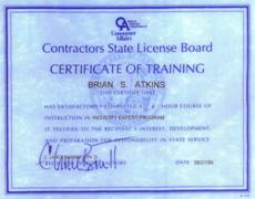CSLB Industry Expert Certification Award